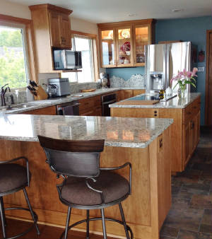 Custom Cherry Kitchen Cabinetry